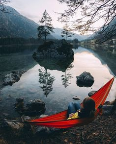 I wanna chill by a beautiful lake in a hammock rn
