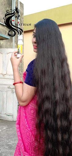 Long Hair Indian Girls, Indian Long Hair Braid, Braids For Long Hair, Long Silky Hair, Long Black Hair, Super Long Hair, Cute Beauty, Beauty Full Girl, Beauty Women