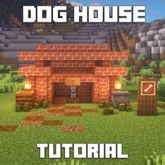 Minecraft Dog House, Minecraft House Tutorials, Minecraft Designs, Minecraft Ideas, Minecraft Blueprints, Texture Packs, Online Games, Video Games, Lego Stuff