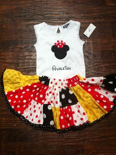 Disney Shirt with Minnie or Mickey Mouse by thehappyhoneysuckle, $22.00