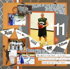 sports scrapbook-Ats my boy! :)  He loves him some basketball!