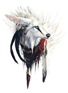 Illustration - illustration - Cast yer flag by Tatchit on deviantART. illustration : – Picture : – Description Cast yer flag by Tatchit on deviantART -Read More – Fantasy Kunst, Fantasy Art, Animal Drawings, Cool Drawings, Drawing Animals, Illustration Art, Illustrations, Anime Wolf, Fox Art