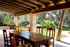 Porche amueblado en la VILLA CA´N SANCHO - Ses Covetes, Mallorca