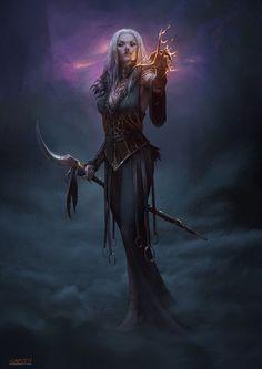 F sorcerer witch seer staff casting underdark midlvl fantasy rpg, dark fantasy, fantasy witch Fantasy Witch, Dark Fantasy Art, Fantasy Girl, Fantasy Artwork, Fantasy Art Women, Witch Art, High Fantasy, Fantasy Warrior, Fantasy Rpg