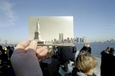 Very cool: photographer uses souvenirs of famous landmarks in photographs of the actual landmarks. optical-illusion-souvenir-photography-michael-hughes