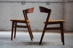 Devilish Dux Danish Mid Century Modern Ribbon Back Teak Dining Chairs (Denmark, 1960s) | Flickr: Intercambio de fotos
