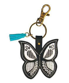 Another great find on #zulily! Black & White Butterfly Key Chain #zulilyfinds