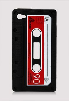 Audio tape // cellphone case #product_design. I have this on my phone right now! I love it.