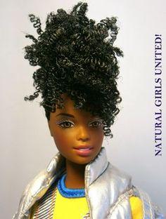 Love the pineapple on this dolls head. Beautiful Barbie Dolls, Pretty Dolls, Barbie Life, Barbie World, Diva Dolls, Dolls Dolls, African American Dolls, Black Barbie, Barbie Collection