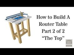 How to Build a Router Table Part 2 - YouTube