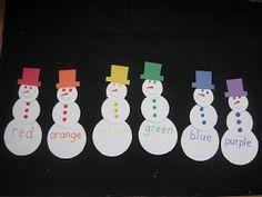 DIY Snowman color activity