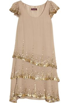 Project D Party sequin-embellished silk-georgette dress