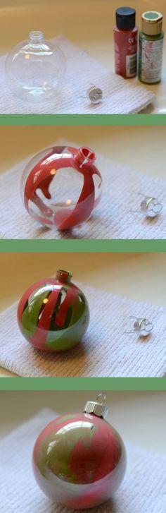 Swirled Paint Ornament