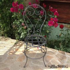 Wrought iron chair. Price: 84.62Euro. Handmade.Color: black. Patina by choice. Shop online: www.alwayservice.eu