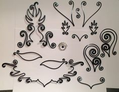 How to make a Black Wire Filigree Phoenix Masquerade Mask, components of the handmade Phoenix mask in progress, by Lisa Kelleher Jewellery