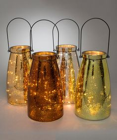 Look what I found on #zulily! Mercury Lantern - Set of Four #zulilyfinds