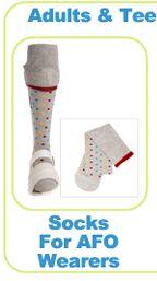 Fun socks for adult AFO wearers