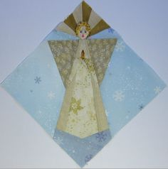 Paper-pieced angel following the format of my recent seasonal blocks  How We Sew