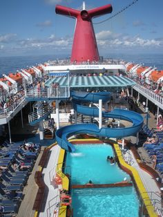 "The fun deck of the Carnival ""Elation"""
