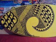 Tribal surf design