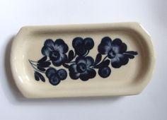 #Vintage butter dish #Butterdish / Serving dish / Hand Painted / Floral / Hand-Crafted / Cobalt Blue Beige Tableware / Polish pottery / Polish ceramics Available at: etsy.com/shop/VintagePolkaShop #etsy #etsydecor #etsyhome #etsydish #polishpottery