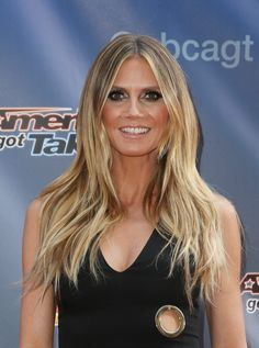 Balayage Celebrity Looks! Haircuts For Long Hair, Cool Hairstyles, Hairdos, Heidi Klum Hair, Hottest Female Celebrities, Brown Blonde Hair, Cute Beauty, Girl Photo Poses, Celebrity Look
