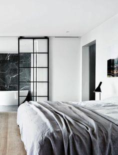 cloison en verre, petite cloison vitrée et chambre à coucher