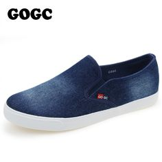 2016 GOGC casual shoes new denim  canvas shoes  fashion trend nice comfortable men loafers casual shoes #>=#>=#>=#>=#> Click on the pin to check out discount price, color, size, shipping, etc. Save and like it!