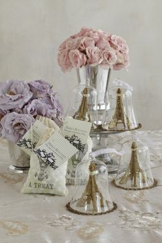 """French-Themed Ornaments. Gift décor to guests as a way of saying """"merci"""" for being part of a memorable baby shower."""