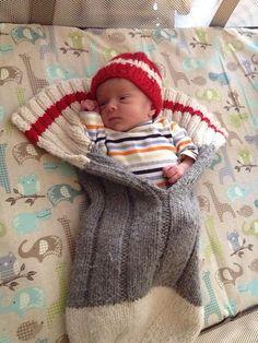 Ravelry: Work Sock Baby (Monkey) Snuggler pattern by Shelley Hilton Crochet Baby Cocoon Pattern, Knit Or Crochet, Baby Knitting Patterns, Baby Patterns, Knitted Baby, Crochet Cats, Ravelry Crochet, Crochet Birds, Crochet Food