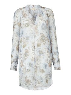 Buy Modern Rarity Winter Blooms Tie Front Top, Blue, 8 from our Women's Shirts & Tops range at John Lewis & Partners. Free Delivery on orders over Modern Wardrobe, Floral Sleeve, Front Tie Top, Tailored Trousers, Neck Pattern, Sheer Fabrics, Rarity, Wardrobe Staples, Personal Style