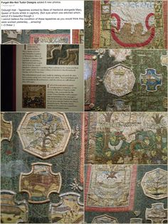 Tapestries by Bess of Hardwick and Mary, Queen of Scots whilst in captivity.