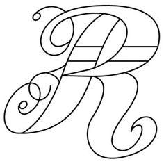 inked letter r_image