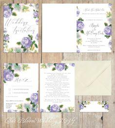 Lilac Bloom Wedding Invites Www Louisetaylordesigns Co Uk Stationary