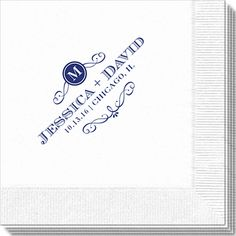 Initial Scroll Napkins