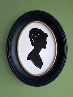 Elizabeth Bennet from Pride and Prejudice Hand-Cut Paper Silhouette Portrait