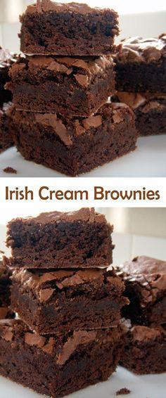 Irish Cream Brownies. #CompleteRecipes.com #recipe #recipes #food #foodgasm #cleaneating #healthyfood #healthy #healthyrecipes