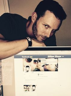 """""""Days of Our Lives"""" Eric Martsolf [Brady Black] has been using Twitter for a while, but now the actor is also on Facebook. In a post March 2 Eric joked, """"Better late than never! I'm officially on Facebook now."""" The photo accompanying the announcement was Eric leaning on the computer with his bran"""