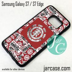 Element Skateboard Logo Collage Phone Case for Samsung Galaxy S7 & S7 Edge