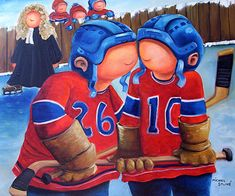 hockey Awesome Art, Cool Art, Hockey Drawing, Learn To Paint, Michel, Plein Air, Sports, Learning, Children