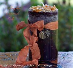 Witchcrafts Artisan Alchemy - PUMPKIN CARAMEL LATTE Pillar Candle (http://www.witchcraftsartisanalchemy.com/pumpkin-caramel-latte-pillar-candle/)
