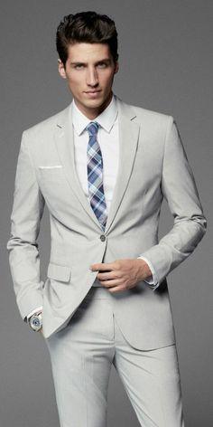 2017 Latest Coat Pant Designs Ivory Formal Men Suit Slim Fit Blazer Masculino Custom Made Simple Men Tuxedo 2 Piece Homme Costume Gris, Mode Costume, Sharp Dressed Man, Well Dressed Men, Mode Masculine, Mens Fashion Suits, Mens Suits, Men's Fashion, Fashion Brands