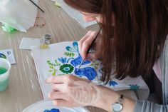 Paint on silk scarves - spring workshops! Painting Workshop, Silk Painting, Silk Scarves, Spring, Atelier