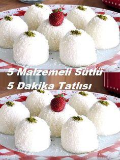 5 Milky 5 Minutes Dessert with Milk # dessert # dessert recipe # dessert recipes - Videolu Tarif - Leziz Yemek Tarifleri - Videolu Yemek Tarifleri - Pratik Yemek Tarifleri 5 Minute Desserts, 5 Ingredient Desserts, Recipe T, Chocolates, Vegetable Drinks, Iftar, Turkish Recipes, Mushroom Recipes, Pasta Recipes
