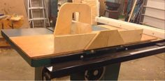 Table Saw sled with allowance for safety incl riving knife