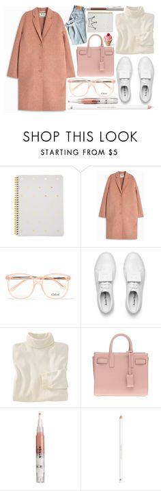 """Work Hard, Play Hard: Finals Season"" by miica-olavarria on Polyvore featuring Sugar Paper, Acne Studios, Chloé, Woolrich, Yves Saint Laurent, Stila and Faber-Castell"