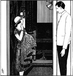 Japanese Illustratior Koji Fukiya 蕗谷虹児 (1898-1979), 欧州航路 (European routes).