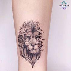 Ideas For Tattoo Ankle Lion Tatoo Leo Lion Tattoos, Elephant Tattoos, Animal Tattoos, Female Lion Tattoo, Leo Zodiac Tattoos, Tattoos Of Lions, Female Arm Tattoos, Female Tattoo Sleeve, Tattoo Girls