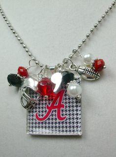 Bama Bling Roll Tide AlabamaCrimson by gamedayjewelryetsy on Etsy, $15.00