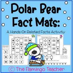 Free Polar Bear Fact Mats! This is a hands-on activity for related facts.